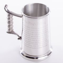 Pewter Tankard King Shilling, 1 Pint, Engravable, BEST SELLER