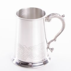 Celtic Band Tankard, 1 Pint, Engravable