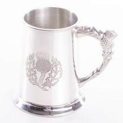 Thistle Pewter Tankard, 1 Pint, Engravable