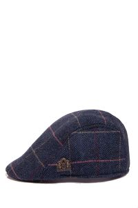 Eton Check Tweed Flat Cap