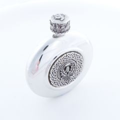 Thistle Crested Flask, Clan Crests Avaliable