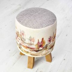 Caledonian Forest Monty Foot Stool by Voyage Maison