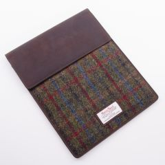 Green and Red Harris Tweed IPad Case