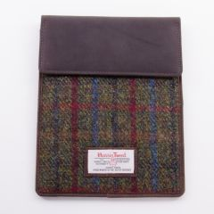Green and Red Harris Tweed IPad Mini Case
