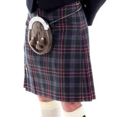 Made in Scotland, 8 Yard Machined Kilt in Hebridean Heather Tartan