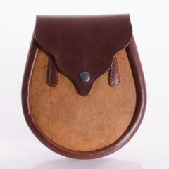 Sporran Waxy Gold, Brown Leather Vennachar by Herd Of Sporrans