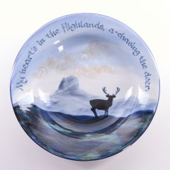 Stag at Dawn Haggis Bowl by Highland Stoneware