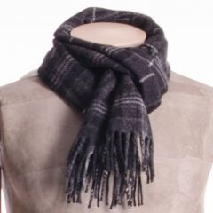 Lambswool District Tartan Scarf Hebridean Granite