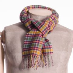 Lambswool District Tartan Scarf Jacobite Muted