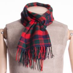 Lambswool District Tartan Scarf Modern City of Glasgow