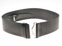 Black leather belt unlined