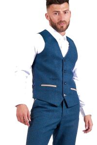 Dion Blue Waistcoat by Marc Darcy