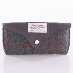 Glasses Case Harris Tweed Green and Red by The British Bag Company