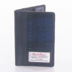 Passport Wallet Harris Tweed in Black Watch by the British Bag Company