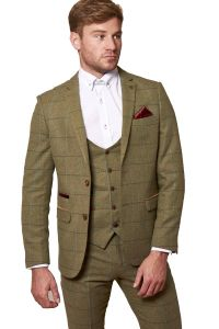 Mens 3 Piece Ellis Tweed Suit by Marc Darcy