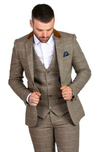 Mens 3 Piece DX7 Suit by Marc Darcy