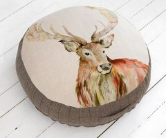 Gregor Stag Medium Floor Cushion by Voyage Maison