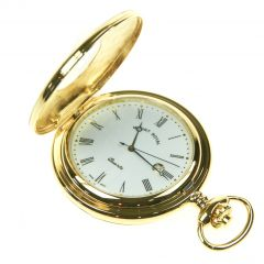 Pocket Watch Gold plated, Half Hunter