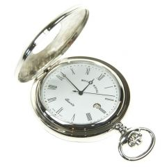 Pocket Watch Chrome plated, Half Hunter