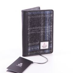 Hebridean Ice Harris Tweed Passport Wallet