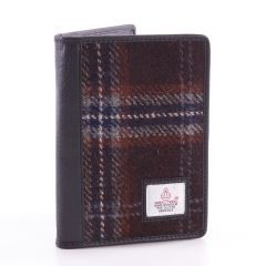 Hebridean Peat Harris Tweed Passport Wallet