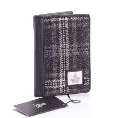 Hebridean Storm Harris Tweed Passport Wallet