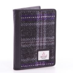 Hebridean Thistle Harris Tweed Passport Wallet