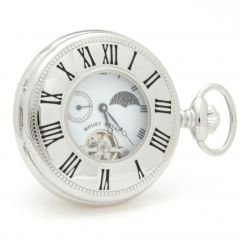 Pocket Watch Chrome plated, Half Hunter, Mechanical