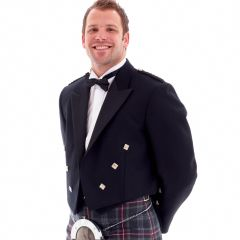 Prince Charlie Jacket and Waistcoat in wool polyester mixture