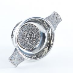 Thistle Crested 3 Inch Quaich, Clan Crests Avaliable