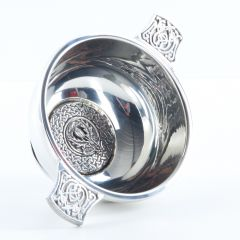Thistle Crested 4 Inch Quaich, Clan Crests Avaliable