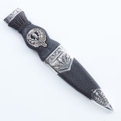 Thistle Crested Sgian Dubh, Over 200 Clan Crests Available A - Z