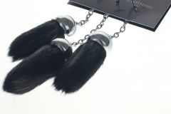 Three Replacement Dress Tassels Black Seal Chrome