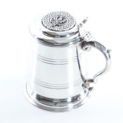 Thistle Crested Tankard, Over 200 Clan Crests Available A - Z