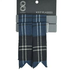 Mens Garter Flashes in Blue Ramsay