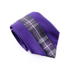 Hebridean Thistle Tartan Tie, Custom Middle Split