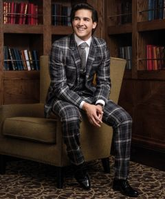Custom Made Suit in Tartan Hebridean Storm