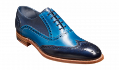 Navy and Blue Valiant Brogue by Barkers