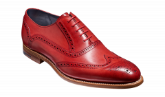 Red Valiant Dress Brogues by Barkers