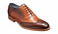 Teak and Ebony Hand Painted Valiant Brogues by Barkers
