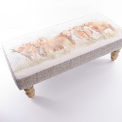 Highland Cattle Foot Stool by Voyage Maison