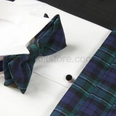Cummerbund and Bow Tie in Wool - Modern MacCallum