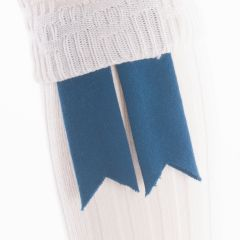Ancient Blue, Pure Wool Garter Flashes