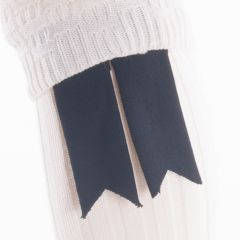 Black, Pure Wool Garter Flashes