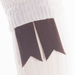 Brown, Pure Wool Garter Flashes
