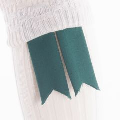 Ancient Green, Pure Wool Garter Flashes