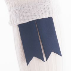 Navy, Pure Wool Garter Flashes