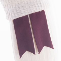 Ruby Red, Pure Wool Garter Flashes