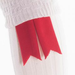 Scarlet Red, Pure Wool Garter Flashes