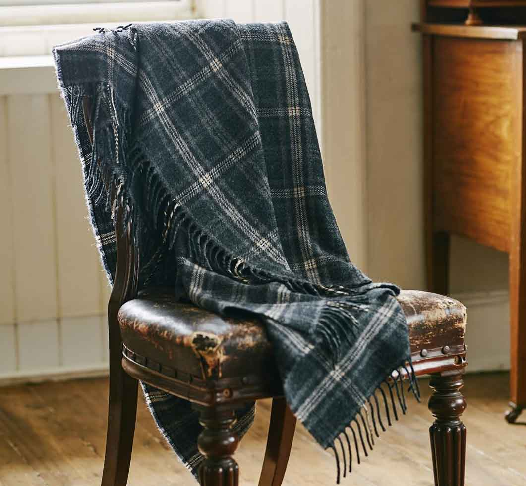 Scarf over chair